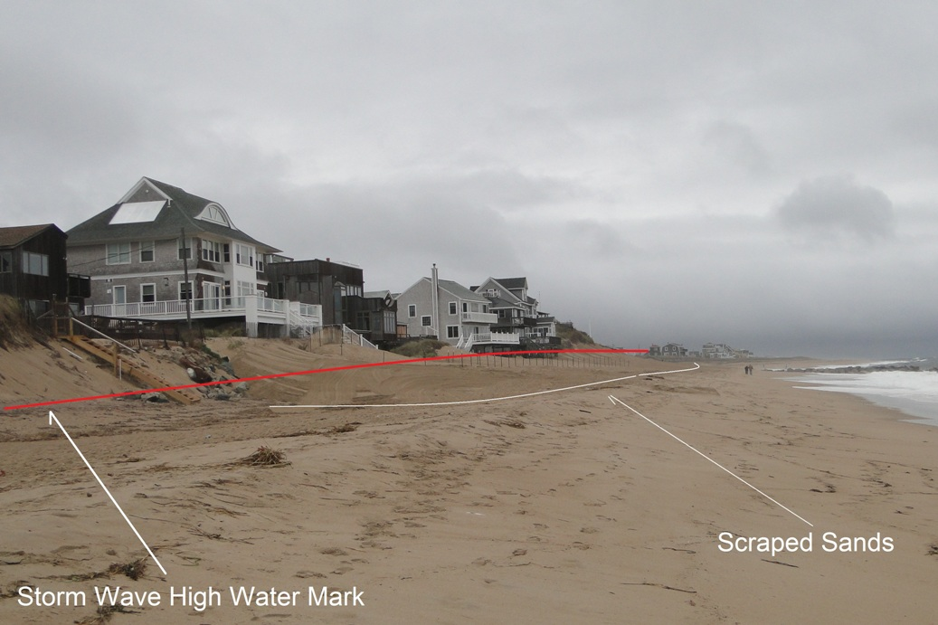 2 Scraped Sand ahead of storm high water mark 017